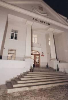 Archiwum Państwowe w Przemyślu - budynek nocą